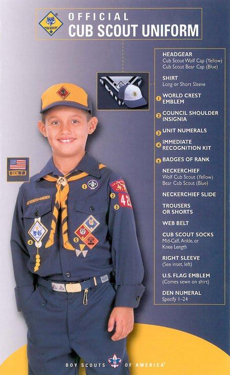 Official cub scout uniform patch placement